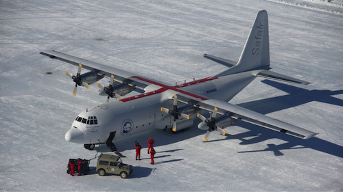 Safair Hercules in Antarctica
