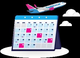 FlySafair low fare finder calendar tile