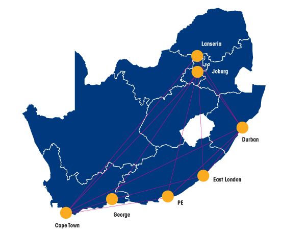 Flyafair Route Map October 2020