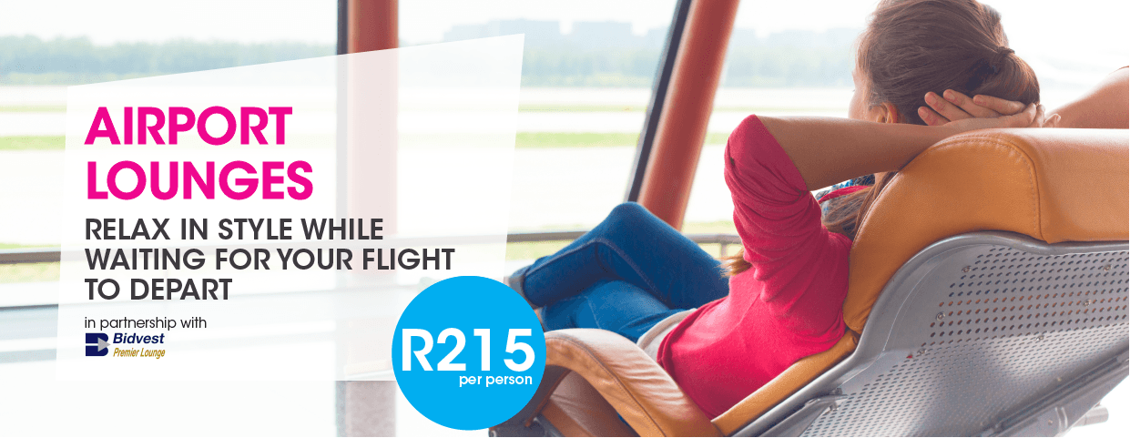 FlySafair Airport Lounges R200