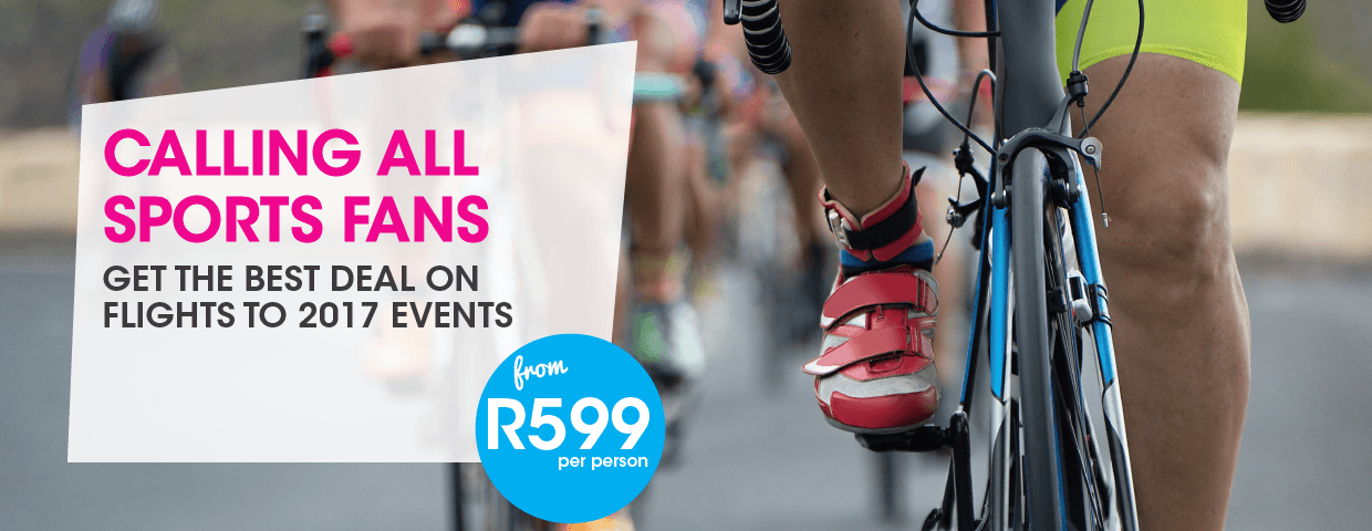 FlySafair Cheap Flights to Sports Events